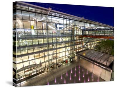 Heathrow Airport Terminal 5 Building at Dusk, London, England, United Kingdom, Europe-Charles Bowman-Stretched Canvas Print