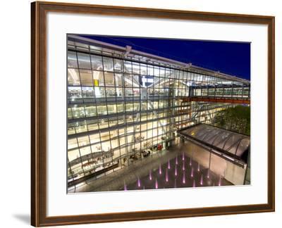Heathrow Airport Terminal 5 Building at Dusk, London, England, United Kingdom, Europe-Charles Bowman-Framed Photographic Print