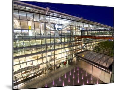 Heathrow Airport Terminal 5 Building at Dusk, London, England, United Kingdom, Europe-Charles Bowman-Mounted Photographic Print