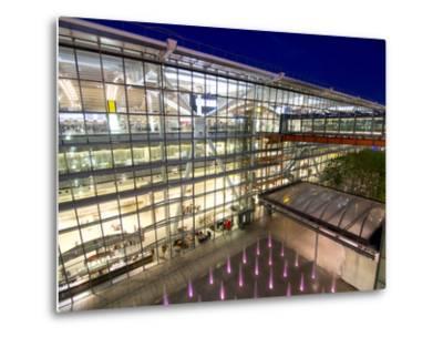 Heathrow Airport Terminal 5 Building at Dusk, London, England, United Kingdom, Europe-Charles Bowman-Metal Print