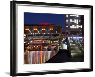 The Mailbox, Canal Area, Birmingham, Midlands, England, United Kingdom, Europe-Charles Bowman-Framed Photographic Print