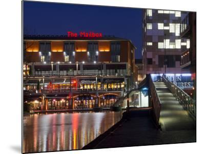 The Mailbox, Canal Area, Birmingham, Midlands, England, United Kingdom, Europe-Charles Bowman-Mounted Photographic Print