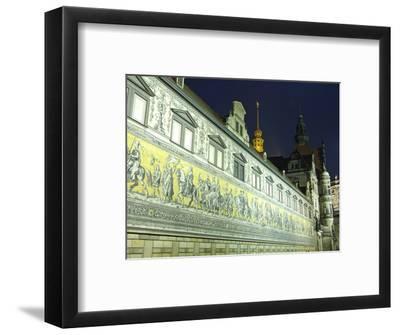 Furstenzug on the Walls of Dresden Castle, Dresden, Saxony, Germany, Europe-Hans Peter Merten-Framed Photographic Print