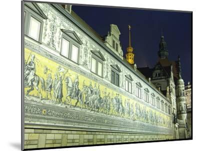 Furstenzug on the Walls of Dresden Castle, Dresden, Saxony, Germany, Europe-Hans Peter Merten-Mounted Photographic Print