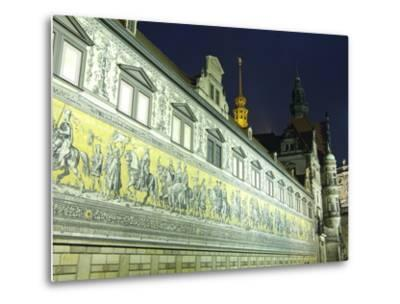 Furstenzug on the Walls of Dresden Castle, Dresden, Saxony, Germany, Europe-Hans Peter Merten-Metal Print