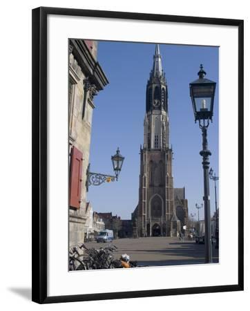 View of the Nieuwe Kerk (New Church) on the Market Square, Delft, Netherlands, Europe-Ethel Davies-Framed Photographic Print