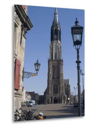 View of the Nieuwe Kerk (New Church) on the Market Square, Delft, Netherlands, Europe-Ethel Davies-Metal Print