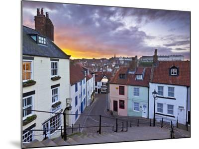 Whitby Town Houses at Sunset from the Abbey Steps, Whitby, North Yorkshire, Yorkshire, England, Uni-Neale Clark-Mounted Photographic Print