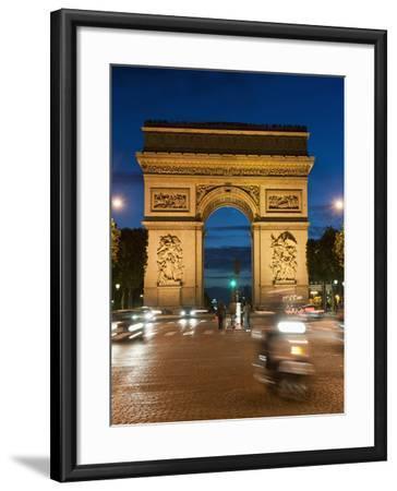Traffic around Arc De Triomphe, Avenue Des Champs Elysees, Paris, France, Europe-Richard Nebesky-Framed Photographic Print