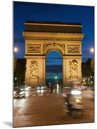 Traffic around Arc De Triomphe, Avenue Des Champs Elysees, Paris, France, Europe-Richard Nebesky-Mounted Photographic Print