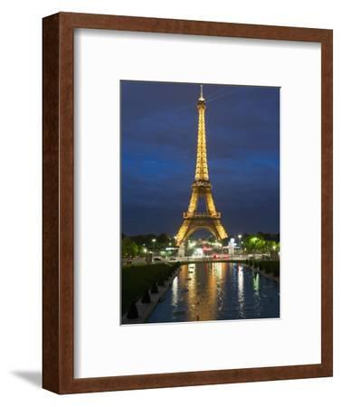 Eiffel Tower and Reflection at Twilight, Paris, France, Europe-Richard Nebesky-Framed Photographic Print