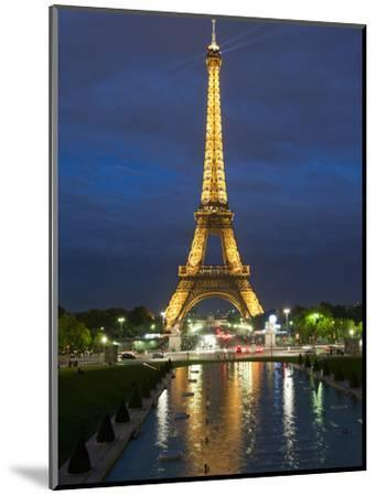 Eiffel Tower and Reflection at Twilight, Paris, France, Europe-Richard Nebesky-Mounted Photographic Print