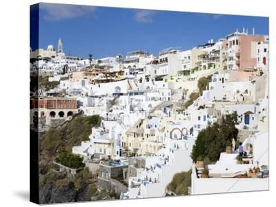 Town of Fira, Santorini Island, Cyclades, Greek Islands, Greece, Europe-Richard Cummins-Stretched Canvas Print