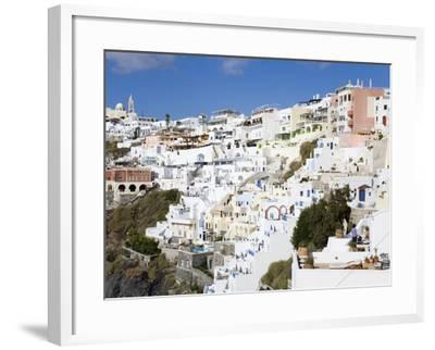 Town of Fira, Santorini Island, Cyclades, Greek Islands, Greece, Europe-Richard Cummins-Framed Photographic Print