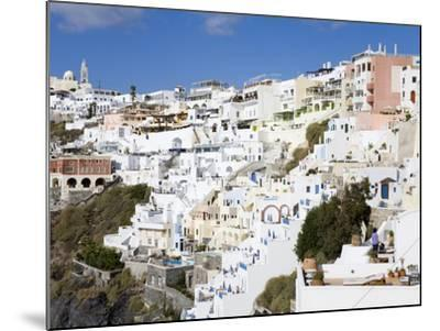 Town of Fira, Santorini Island, Cyclades, Greek Islands, Greece, Europe-Richard Cummins-Mounted Photographic Print