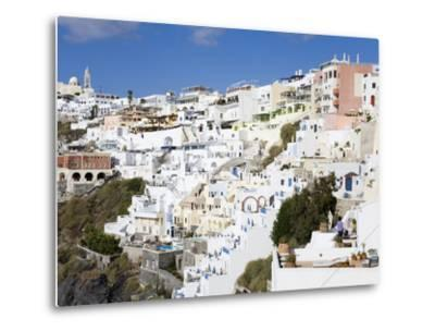 Town of Fira, Santorini Island, Cyclades, Greek Islands, Greece, Europe-Richard Cummins-Metal Print