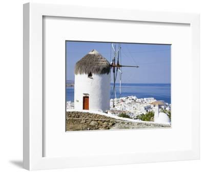 Bonis Windmill at the Folklore Museum in Mykonos Town, Island of Mykonos, Cyclades, Greek Islands, -Richard Cummins-Framed Photographic Print