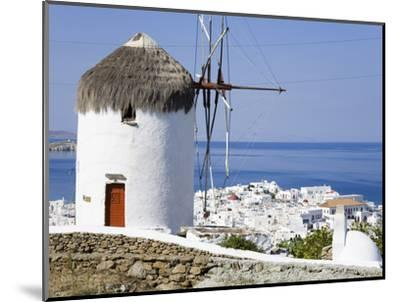 Bonis Windmill at the Folklore Museum in Mykonos Town, Island of Mykonos, Cyclades, Greek Islands, -Richard Cummins-Mounted Photographic Print
