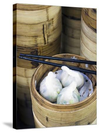 Dim Sum Preparation in a Restaurant Kitchen in Hong Kong, China, Asia-Gavin Hellier-Stretched Canvas Print