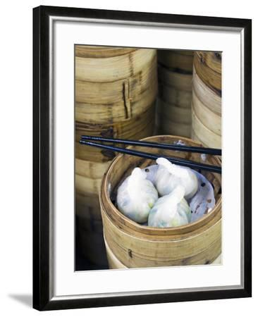 Dim Sum Preparation in a Restaurant Kitchen in Hong Kong, China, Asia-Gavin Hellier-Framed Photographic Print