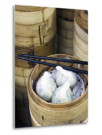 Dim Sum Preparation in a Restaurant Kitchen in Hong Kong, China, Asia-Gavin Hellier-Metal Print