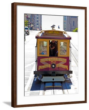 Cable Car Crossing California Street, San Francisco, California, United States of America, North Am-Gavin Hellier-Framed Photographic Print