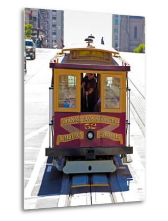 Cable Car Crossing California Street, San Francisco, California, United States of America, North Am-Gavin Hellier-Metal Print