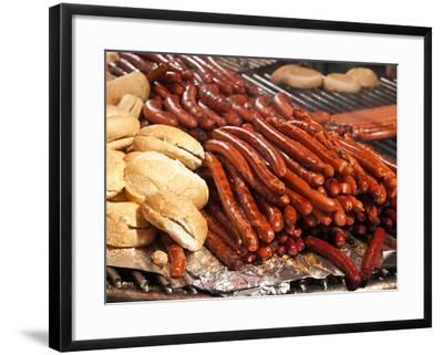 Barbequed Meats at the Stuttgart Beer Festival, Cannstatter Wasen, Stuttgart, Baden-Wurttemberg, Ge-Michael DeFreitas-Framed Photographic Print