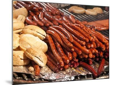 Barbequed Meats at the Stuttgart Beer Festival, Cannstatter Wasen, Stuttgart, Baden-Wurttemberg, Ge-Michael DeFreitas-Mounted Photographic Print