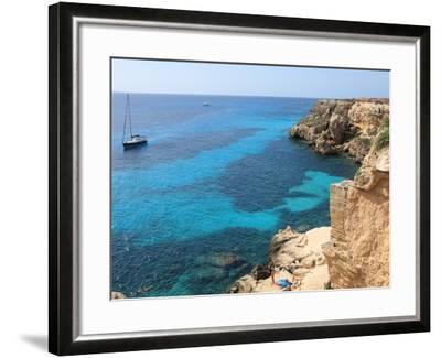 Cliff, Favignana, Sicily, Italy, Mediterranean, Europe-Vincenzo Lombardo-Framed Photographic Print