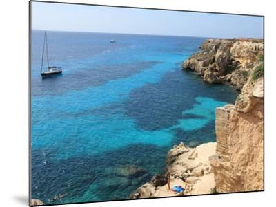 Cliff, Favignana, Sicily, Italy, Mediterranean, Europe-Vincenzo Lombardo-Mounted Photographic Print