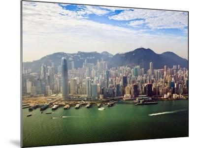 Cityscape of Hong Kong Island and Victoria Harbour, Hong Kong, China, Asia-Amanda Hall-Mounted Photographic Print