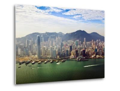 Cityscape of Hong Kong Island and Victoria Harbour, Hong Kong, China, Asia-Amanda Hall-Metal Print