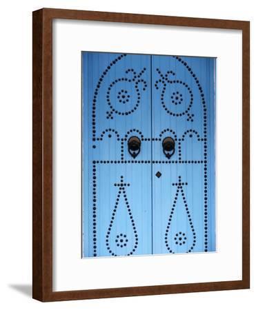 Door in Houmt Souk, Jerba Island, Tunisia, North Africa, Africa-Godong-Framed Premium Photographic Print