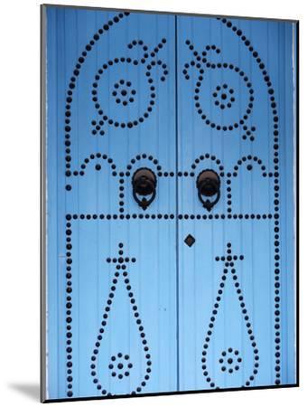 Door in Houmt Souk, Jerba Island, Tunisia, North Africa, Africa-Godong-Mounted Premium Photographic Print