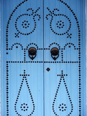 Door in Houmt Souk, Jerba Island, Tunisia, North Africa, Africa-Godong-Photographic Print
