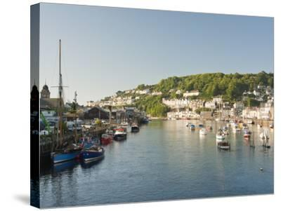 Morning Light on the River Looe at Looe in Cornwall, England, United Kingdom, Europe-David Clapp-Stretched Canvas Print