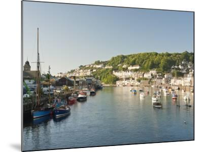 Morning Light on the River Looe at Looe in Cornwall, England, United Kingdom, Europe-David Clapp-Mounted Photographic Print