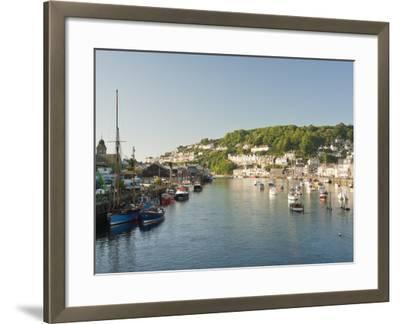 Morning Light on the River Looe at Looe in Cornwall, England, United Kingdom, Europe-David Clapp-Framed Photographic Print