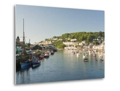Morning Light on the River Looe at Looe in Cornwall, England, United Kingdom, Europe-David Clapp-Metal Print