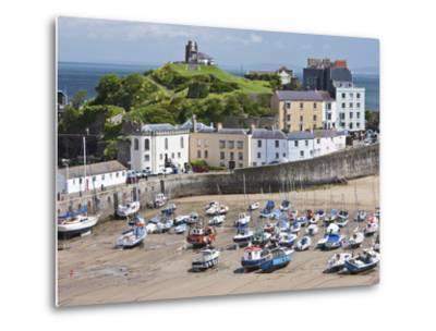 Tenby Harbour, Tenby, Pembrokeshire, Wales, United Kingdom, Europe-David Clapp-Metal Print