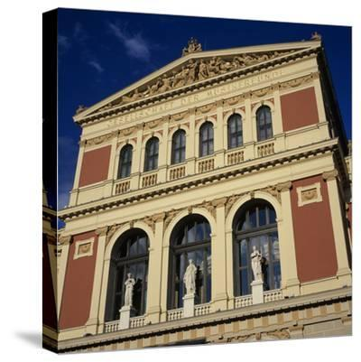Exterior of Musikverein Concert Hall, Vienna, Austria, Europe-Stuart Black-Stretched Canvas Print