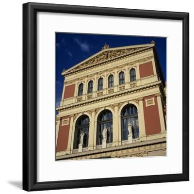 Exterior of Musikverein Concert Hall, Vienna, Austria, Europe-Stuart Black-Framed Photographic Print