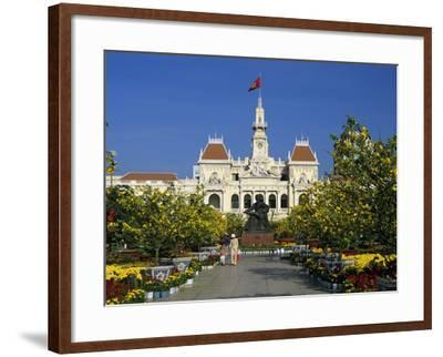 Hotel De Ville (Ho Chi Minh City Hall) Decorated for Chinese New Year, Ho Chi Minh City (Saigon), V-Stuart Black-Framed Photographic Print