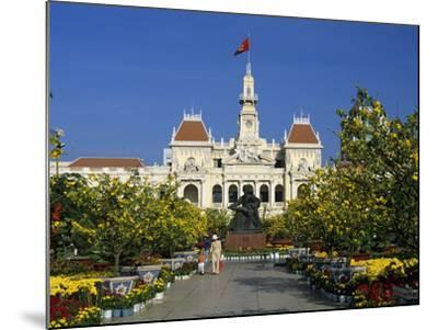 Hotel De Ville (Ho Chi Minh City Hall) Decorated for Chinese New Year, Ho Chi Minh City (Saigon), V-Stuart Black-Mounted Photographic Print