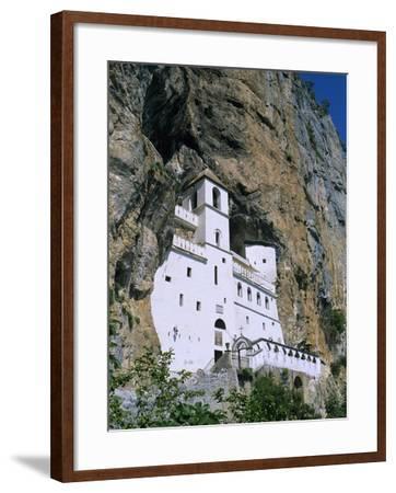 Ostrog Monastery, Tramontana, Montenegro, Europe-Stuart Black-Framed Photographic Print