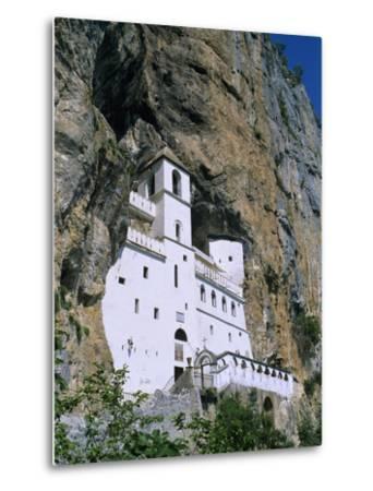 Ostrog Monastery, Tramontana, Montenegro, Europe-Stuart Black-Metal Print