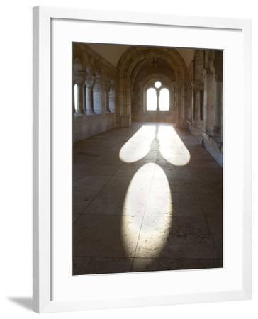 Sunlight Pouring Through Arched Windows, Fishermen's Bastion (Halaszbastya), Buda, Budapest, Hungar-Stuart Black-Framed Photographic Print