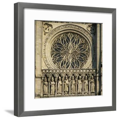 Detail of West Front, Notre Dame Cathedral, UNESCO World Heritage Site, Amiens, Picardy, France, Eu-Stuart Black-Framed Photographic Print