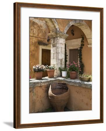 Detail from Inside Monastery, Agia Triada Monastery (Moni Zangarolo), Akrotiri Peninsula, Chania Re-Stuart Black-Framed Photographic Print